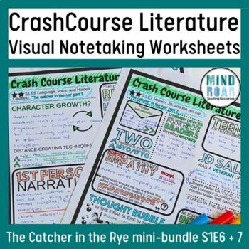 Crash Course Literature Season 1 The Catcher in the Rye Bundle (ep 6 and 7)