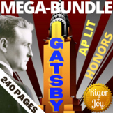 The Great Gatsby 165-page EDITABLE MEGA-UNIT!! Rigor for AP LIT & HONORS!!!