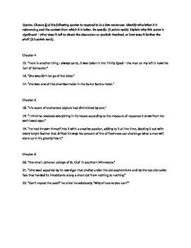 The Great Gatsby Ch1-6 Quiz