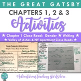 The Great Gatsby:  Chapter 1, 2, and 3 Lessons & Activities {EDITABLE}