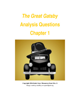 The Great Gatsby Chapter 1 Close Reading / Analysis Text-d