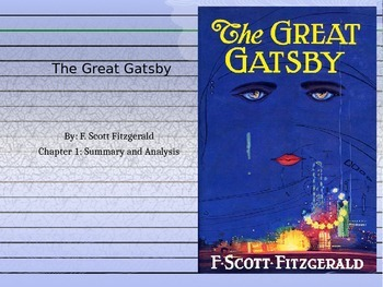 The Great Gatsby Chapter 1 PPT