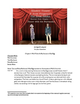 The Great Gatsby Chapter 1 Readers' Theater of the Dinner Party Scene