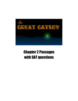 The Great Gatsby Chapter 2 SAT Practice