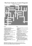 The Great Gatsby - Chapter 2 Vocabulary Crossword