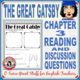 THE GREAT GATSBY Chapter 3 Reading Guide for Study and Discussion with Key