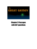 The Great Gatsby Chapter 3 SAT and PSAT Practice