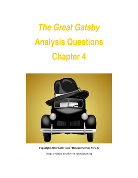 The Great Gatsby Chapter 4 Close Reading / Analysis Text-dependent Questions