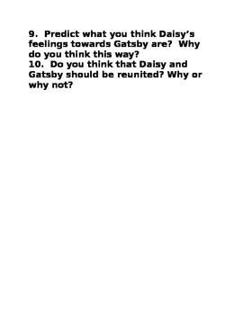 The Great Gatsby Chapter 4 Quiz