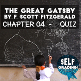 The Great Gatsby - Chapter 4 Quiz (Blackboard, Moodle, Sch