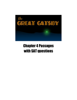 The Great Gatsby Chapter 4 SAT and PSAT Practice