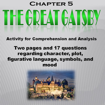 The Great Gatsby  Chapter 5 Activity