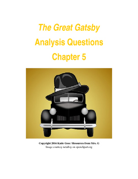 The Great Gatsby Chapter 5 Close Reading / Analysis Text-d