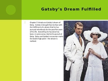 The Great Gatsby Chapter 5 PowerPoint Summary/Review