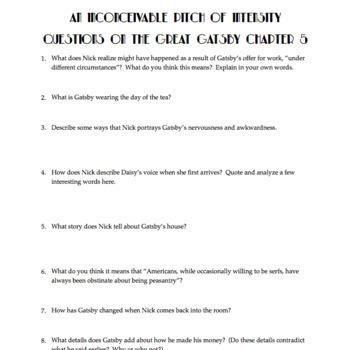 great gatsby essay questions