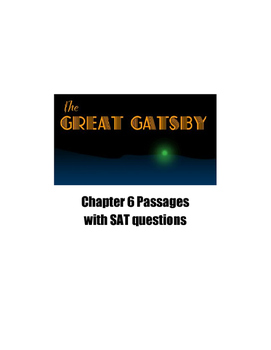 The Great Gatsby Chapter 6 SAT and PSAT Practice