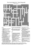 The Great Gatsby - Chapter 6 Vocabulary Crossword