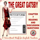 The Great Gatsby Chapter 7 Activities-Comprehension/Analysis/Reflection with Key