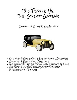 The Great Gatsby Chapter 7 CSI Activity