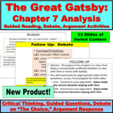 The Great Gatsby Chapter 7 Guided Reading, Questions, Debate, Argument
