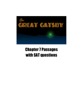 The Great Gatsby Chapter 7 SAT and PSAT Practice