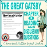 THE GREAT GATSBY Chapter 8 Reading Guide for Comprehension and Analysis with Key