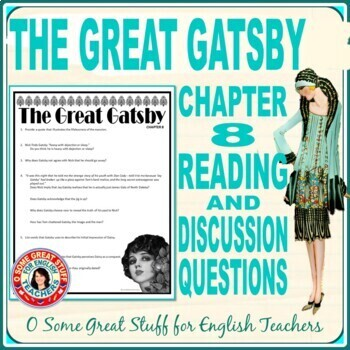 Great Gatsby Chapter 8 Worksheets Teaching Resources TpT