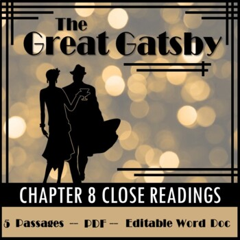 The Great Gatsby Chapter 8 Close Reading Practice
