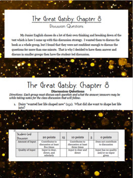 The Great Gatsby: Chapter 8 Discussion Activity