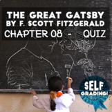 The Great Gatsby - Chapter 8 Quiz (Blackboard, Moodle, Sch