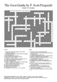 The Great Gatsby - Chapter 8 Vocabulary Crossword