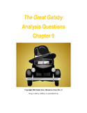 The Great Gatsby Chapter 9 Close Reading / Analysis Text-dependent Questions