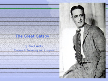 The Great Gatsby Chapter 9 PPT