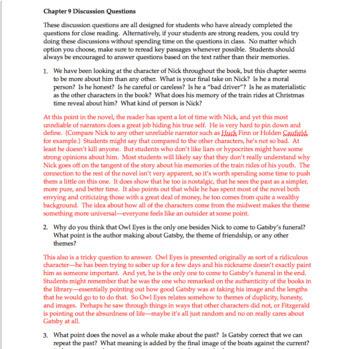 the great gatsby chapter 9 questions quiz study guide activities rh teacherspayteachers com