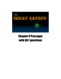 The Great Gatsby Chapter 9 SAT and PSAT Practice