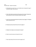 The Great Gatsby Chapter One Study Guide Questions