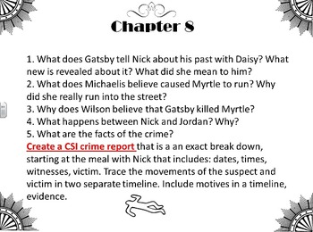 The Great Gatsby Chapter Reading Guide