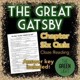 The Great Gatsby Chapter Six Quiz - Cloze Reading Activity