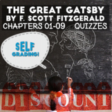 The Great Gatsby - Chapters 1-9 Quizzes (Blackboard, Moodl