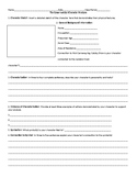 The Great Gatsby Character Analysis Worksheet