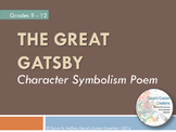 The Great Gatsby - Character Symbolism Poem Worksheet