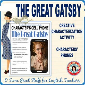 The Great Gatsby Characterization Cell Phone Activity--Great fun, old sport!