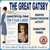 THE GREAT GATSBY CELL PHONES Fun and Creative Characterization Activity