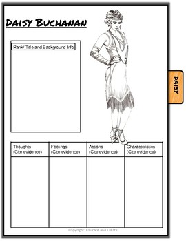 The Great Gatsby Characterization Flip Book.