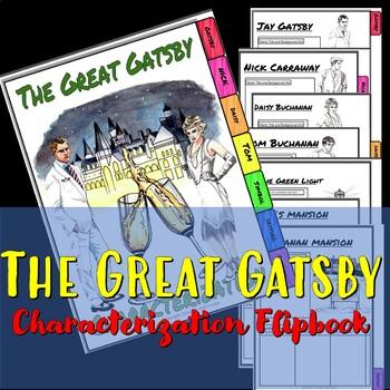 The Great Gatsby Characterization Flip Book.