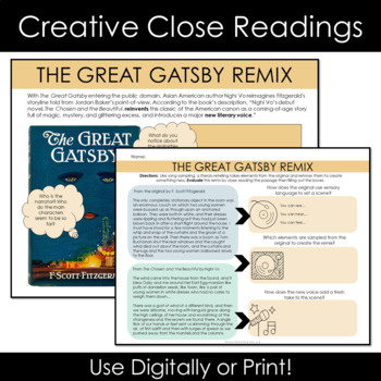 The Great Gatsby Color Analysis Unit Plan + Informational Text + Gatsby Test