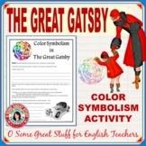 THE GREAT GATSBY Color Symbolism Activity with Key DIGITAL