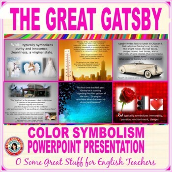 The Great Gatsby Color Symbolism Teaching Resources Teachers Pay