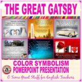 THE GREAT GATSBY COLOR SYMBOLISM Vibrant and Engaging PowerPoint Presentation