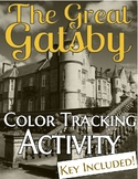 The Great Gatsby Color Tracking Activity